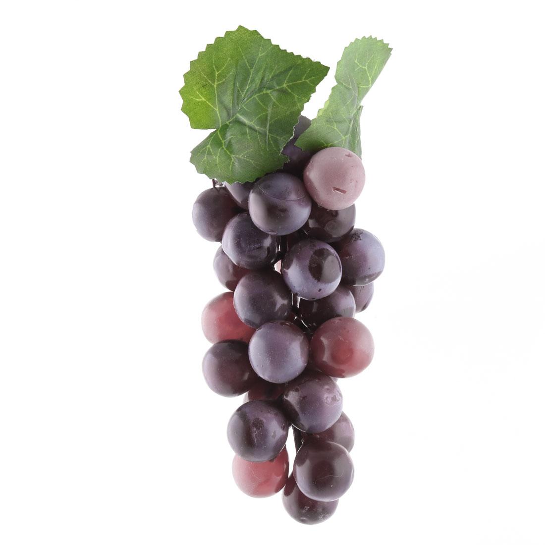 Family Plastic Desk Table Decoration Simulation Artificial Fruit Grape Purple