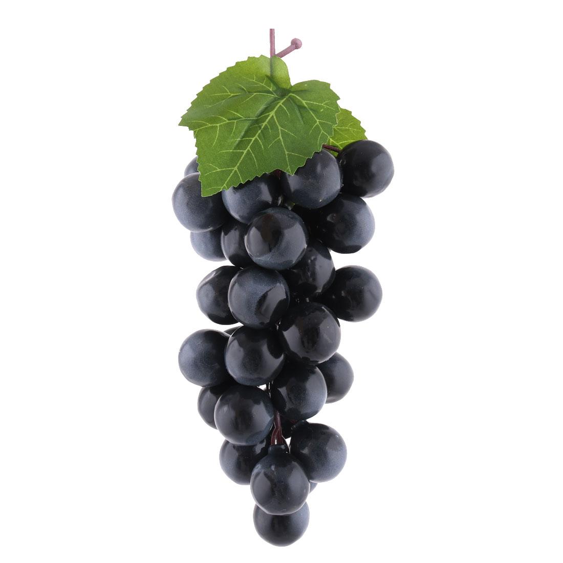 Home Party Decoration Plastic Manmade Simulation Artificial Fruit Grape Black