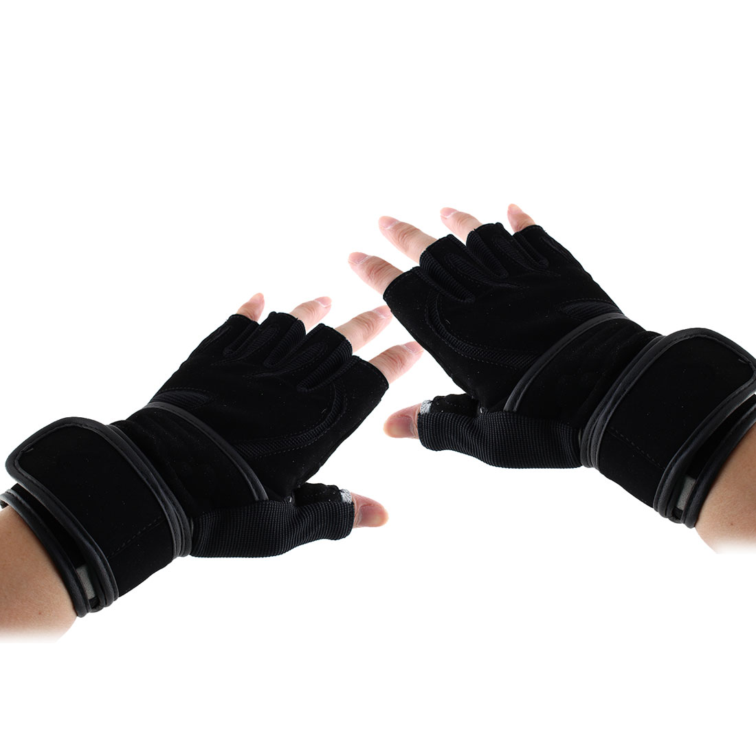 Boodun Authorized Men Sports Weight Lifting Cycling Gym Workout Fitness Anti Slip Half Finger Gloves Size M Pair
