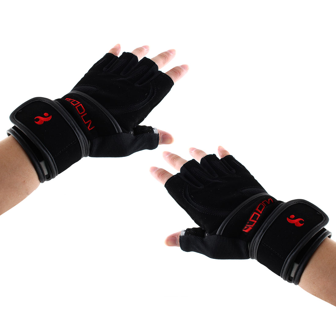 Boodun Authorized Men Sports Weight Lifting Cycling Gym Workout Fitness Anti Slip Half Finger Gloves Size L Pair