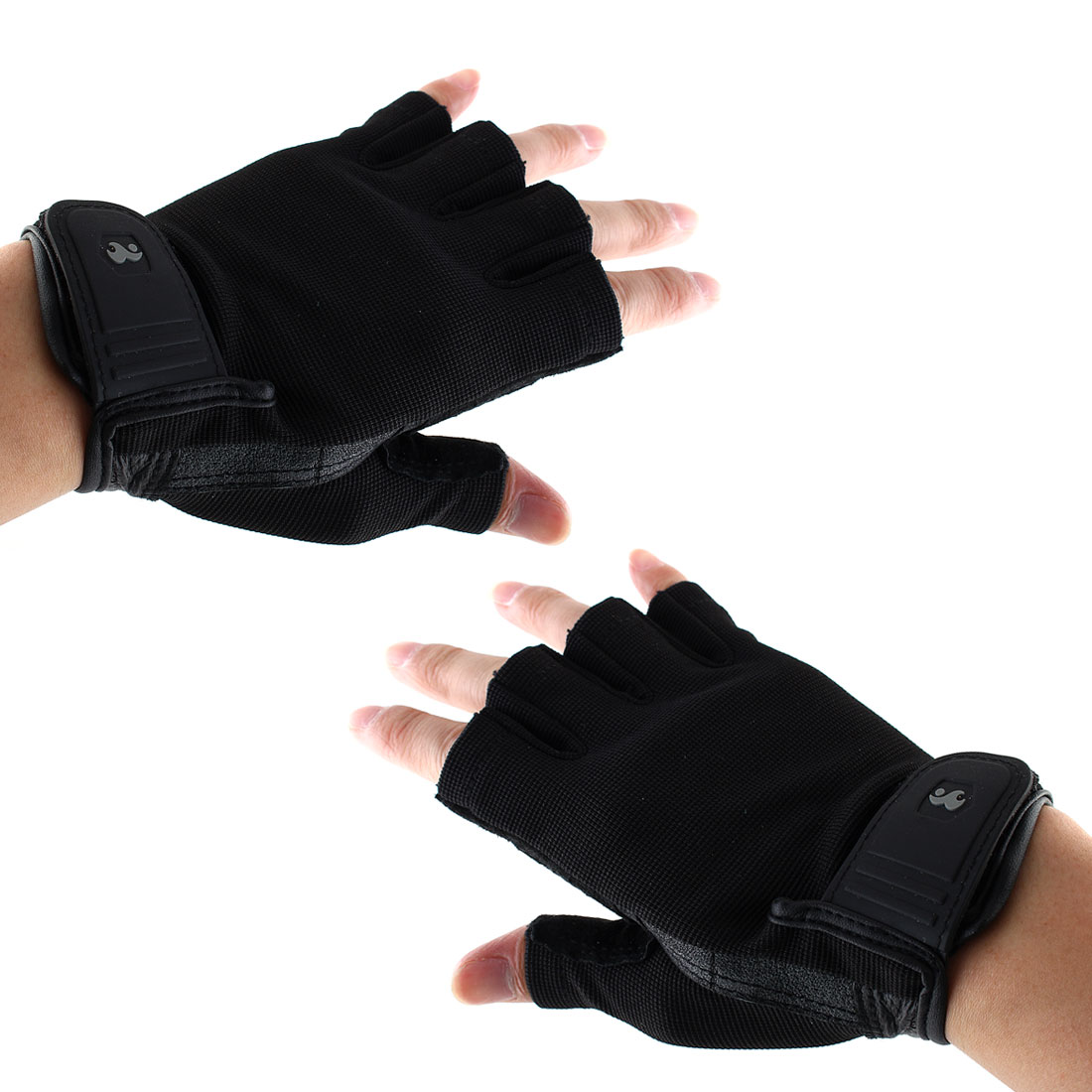 Boodun Authorized Unisex Sports Weight Lifting Gym Workout Fitness Half Finger Gloves Size L Pair