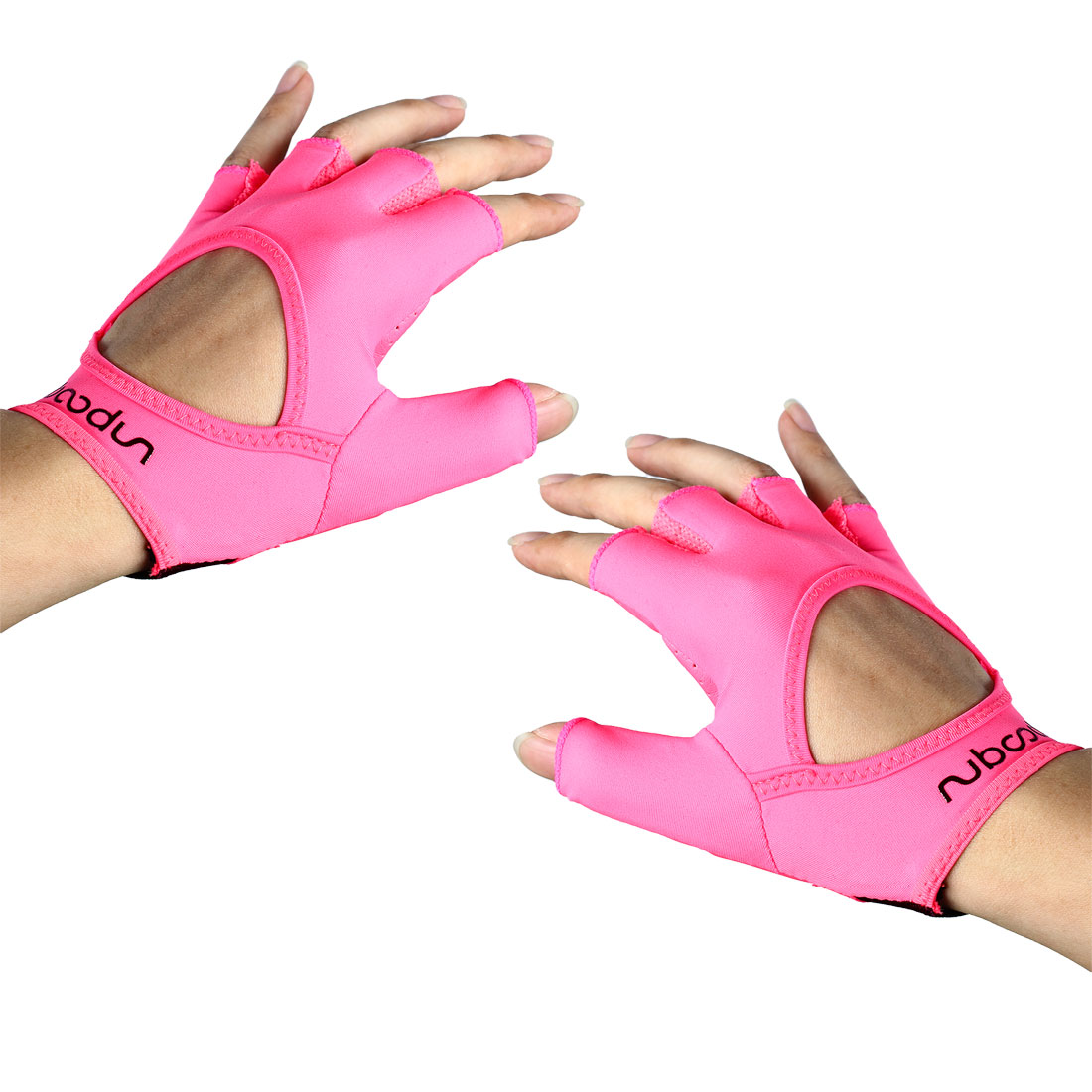 Boodun Authorized Cycling Yoga Gym Workout Fitness Half Finger Palm Support Gloves Pink Size S Pair