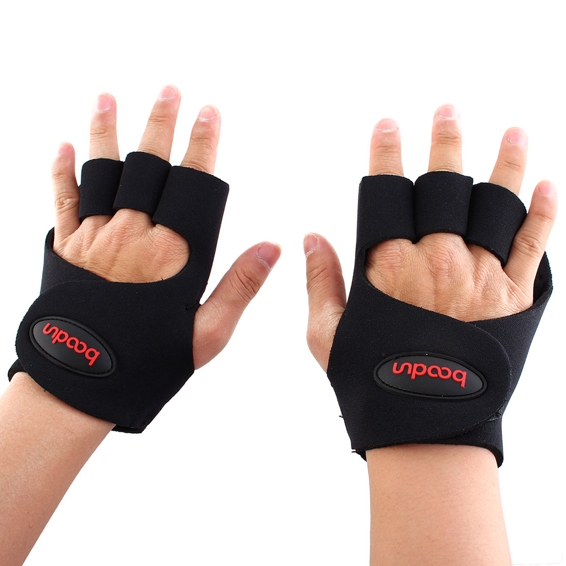Boodun Authorized Outdoor Sports Cycling Gym Exercise Weight Lifting Non-slip Rubber Padding Training Gloves Size L Pair