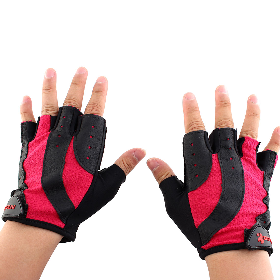 Boodun Authorized Outdoor Cycling Gym Exercise Cross Training Weight Lifting Non-slip Half Finger Gloves Size M Pair