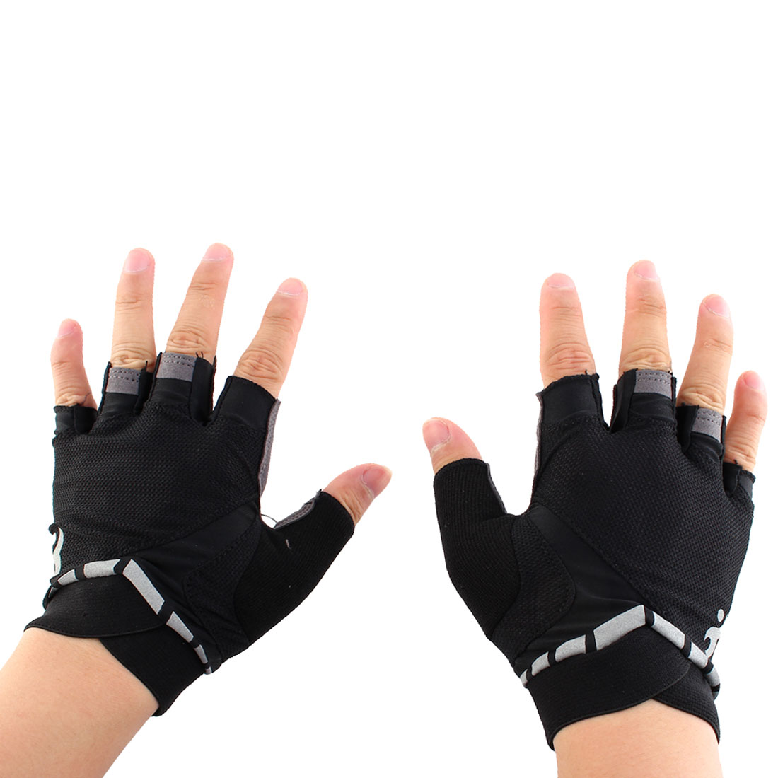 Boodun Authorized Outdoor Cycling Gym Workout Training Yoga Weight Lifting Half Finger Gloves Black Size M Pair