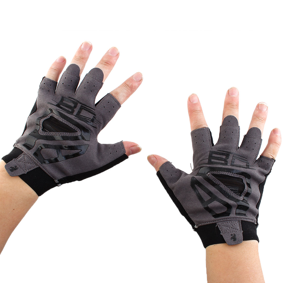 Boodun Authorized Outdoor Cycling Gym Workout Training Yoga Weight Lifting Half Finger Gloves Black Size L Pair