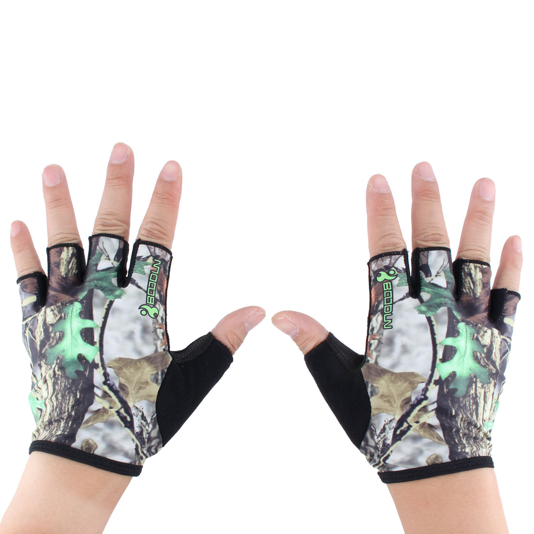 BOODUN Authorized Unisex Gym Workout Training Anti Skid Breathable Fitness Half Finger Gloves #1 XL Size Pair