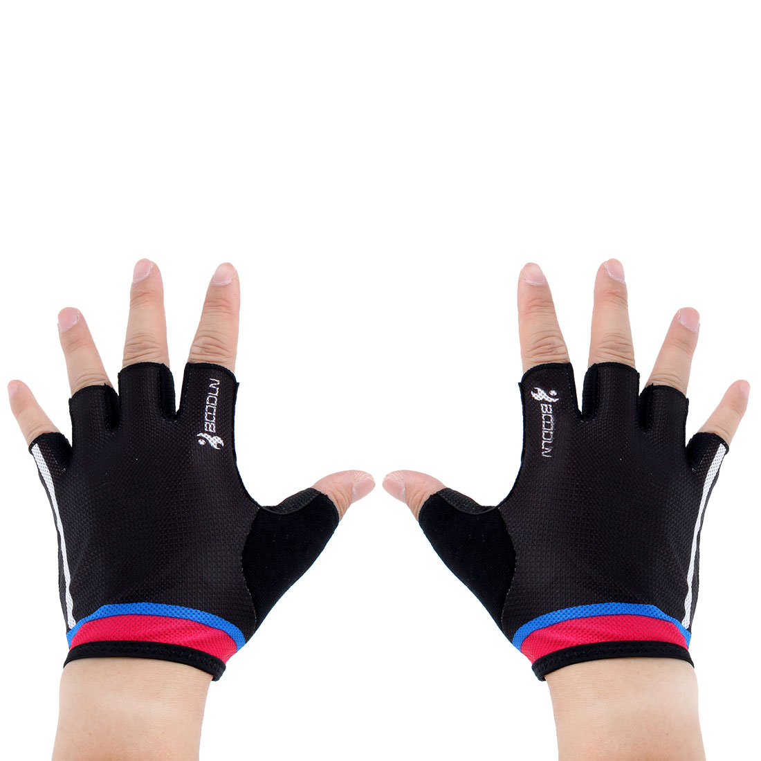BOODUN Authorized Unisex Gym Workout Training Anti Skid Breathable Fitness Half Finger Gloves #2 M Size Pair