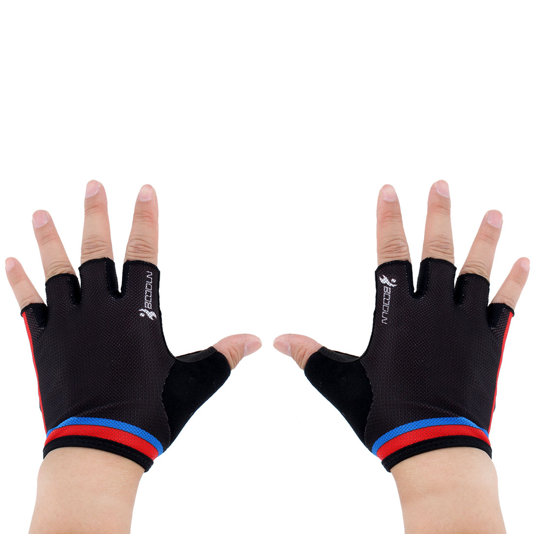 BOODUN Authorized Unisex Gym Workout Training Anti Skid Breathable Fitness Half Finger Gloves #3 L Size Pair