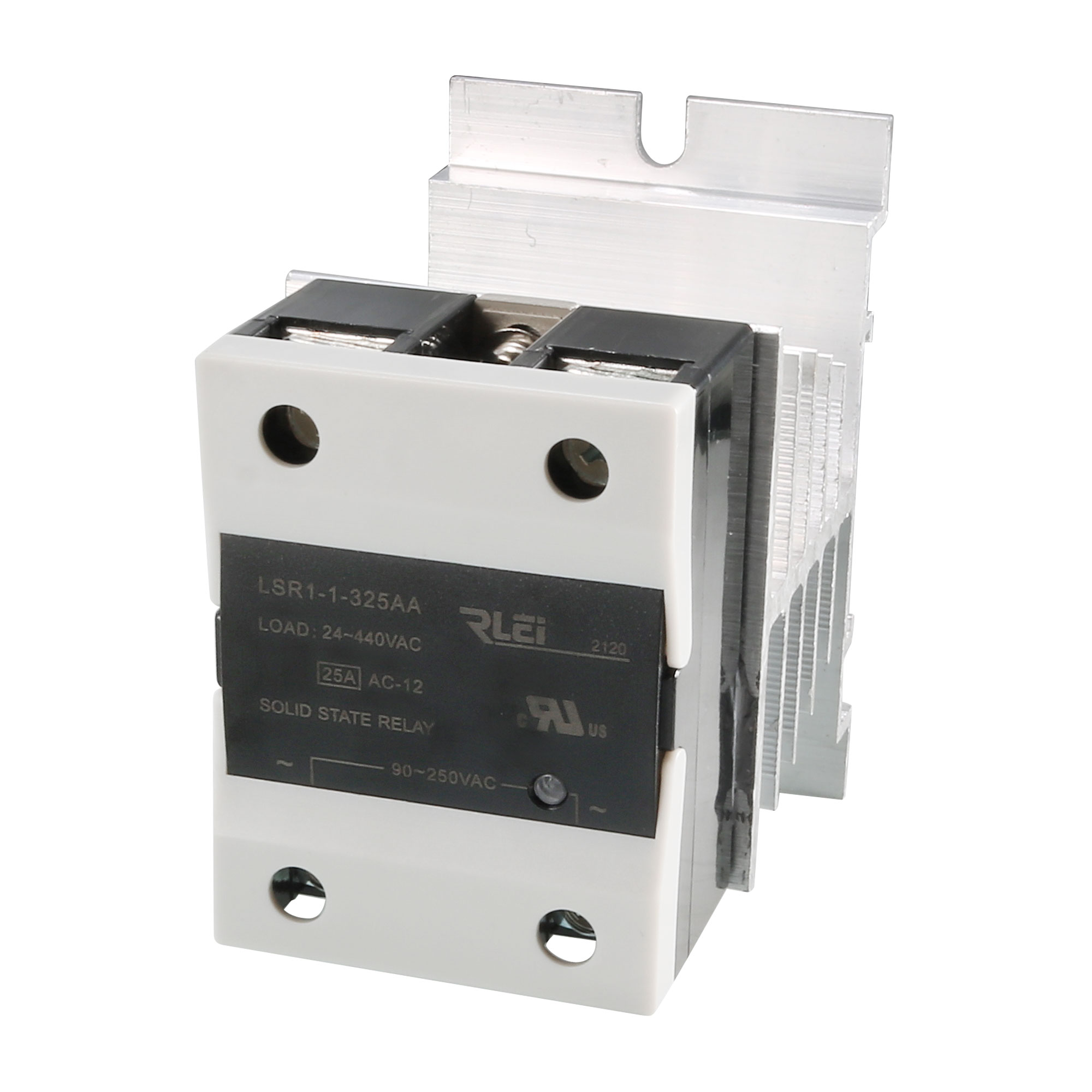 40A 90-250VAC to 24-440AC SSR Thermal Compound Solid State Relay + Heat Sink