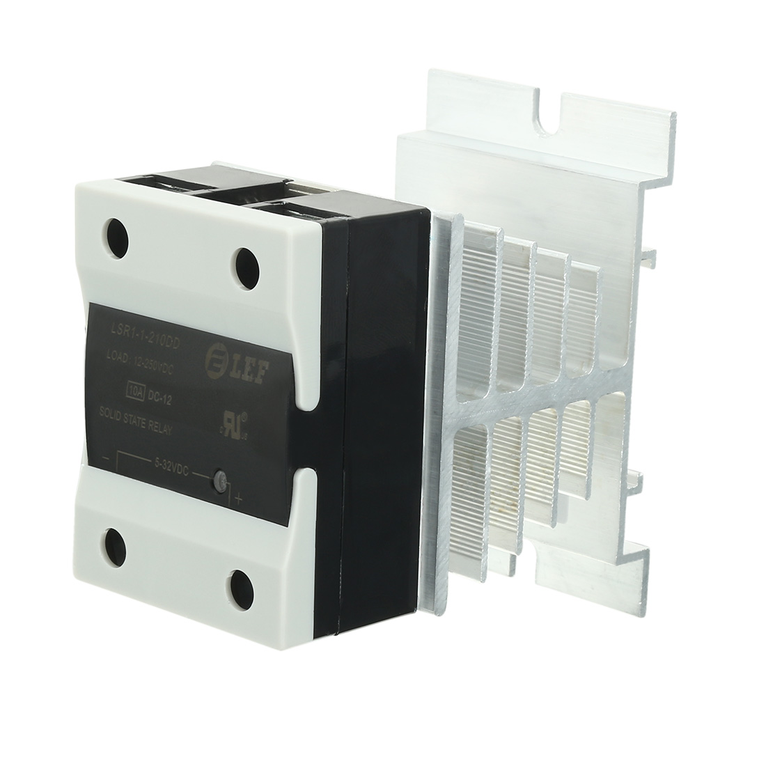 10A 5-32VDC to 12-250VDC SSR Thermal Compound Solid State Relay + Heat Sink