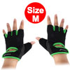 BOODUN Authorized Gym Workout Weight Lifting Training Adjustable Anti Slip Breathable Fitness Half Finger Gloves Green M Size Pair