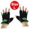 BOODUN Authorized Gym Workout Weight Lifting Training Adjustable Anti Slip Breathable Fitness Half Finger Gloves Green L Size Pair