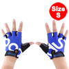BOODUN Authorized Unisex Outdoor Sports Cycling Biking Exercise Adjustable Fitness Half Finger Gloves Blue S Size Pair