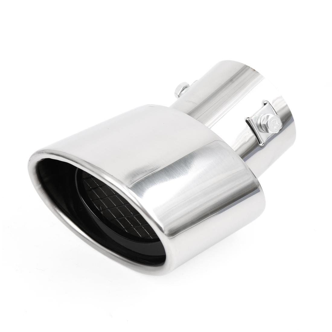 "Universal Car Stainless Steel Chrome Curved Exhaust Tail Muffler Tip Pipe Fit Diameter 1 1/4"" to 2"""