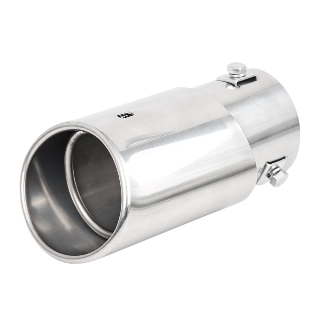 "Universal Fits Car Stainless Steel Chrome Exhaust Rear Tail Muffler Tip Pipe Fit Diameter 1 1/4"" to 2"""