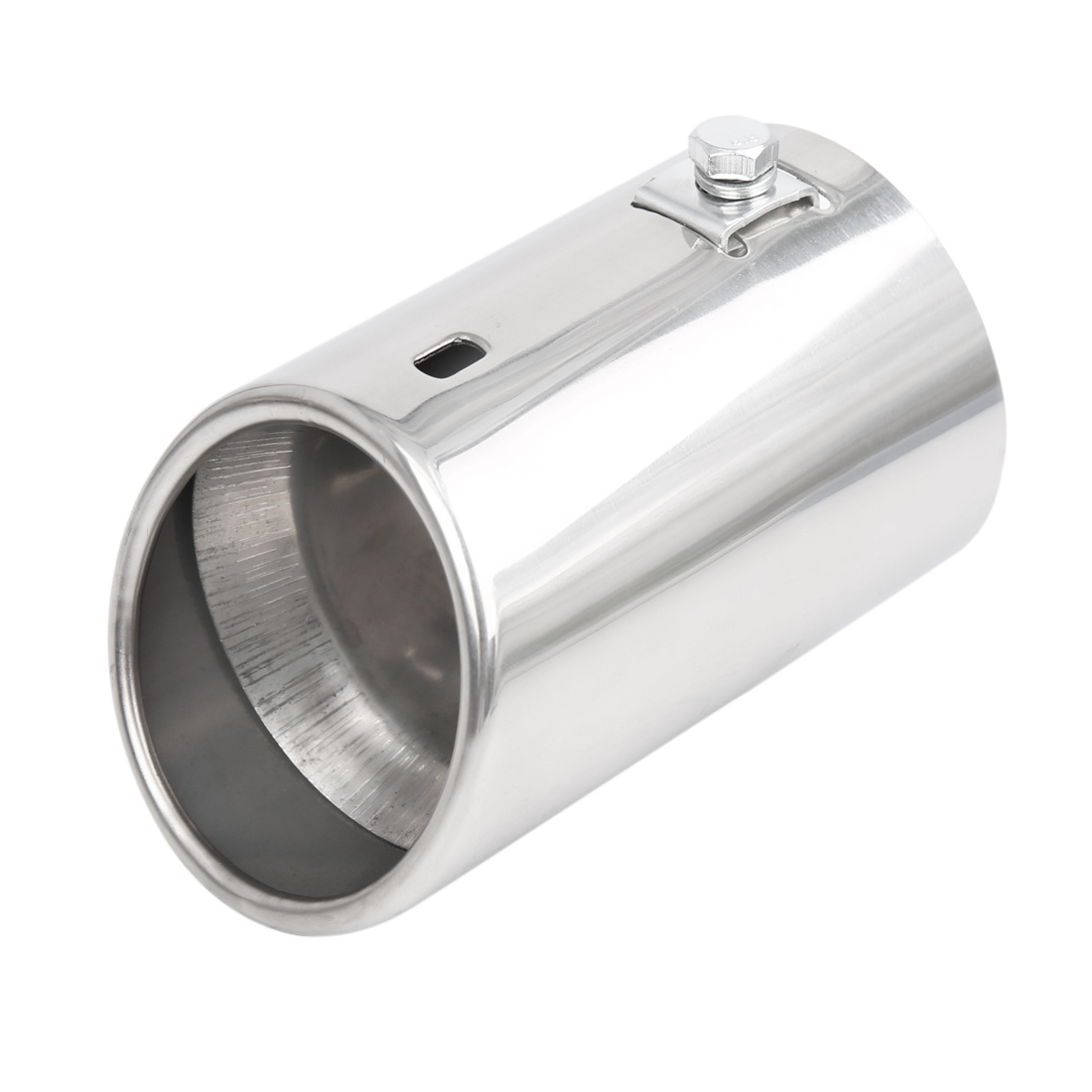 """Universal Car Stainless Steel Chrome Exhaust Rear Tail Muffler Tip Pipe Fit Diameter 1 1/4"""" to 2"""""""