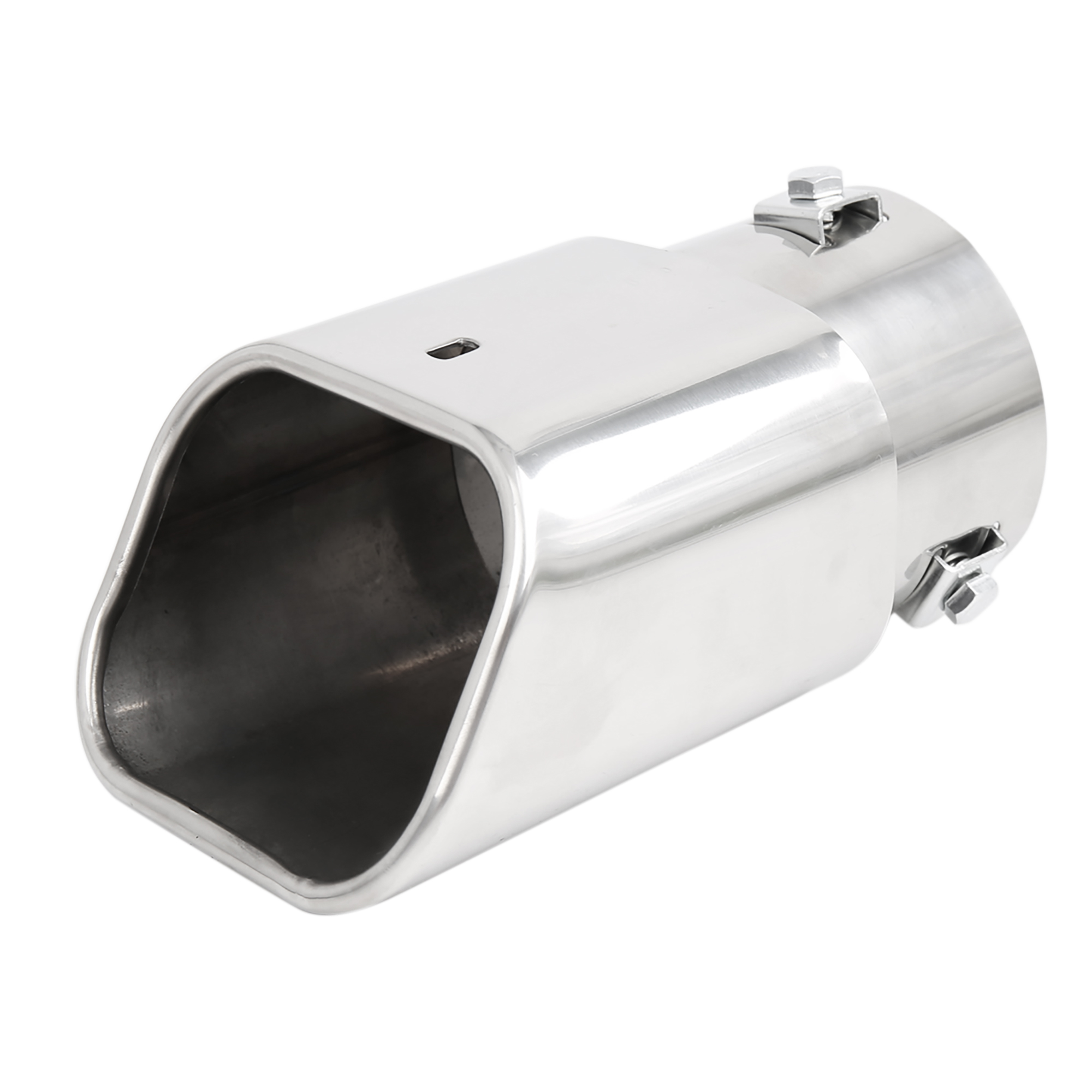 "Universal Fits Car Stainless Steel Chrome Square Outlet Exhaust Tail Muffler Tip Pipe Fit Diameter 1 3/4"" to 2 3/8"""