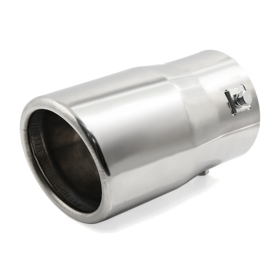 """Car Silver Tone Round Exhaust Muffler Tip Pipe Fit Diameter 1 3/4"""" to 2 1/2"""""""
