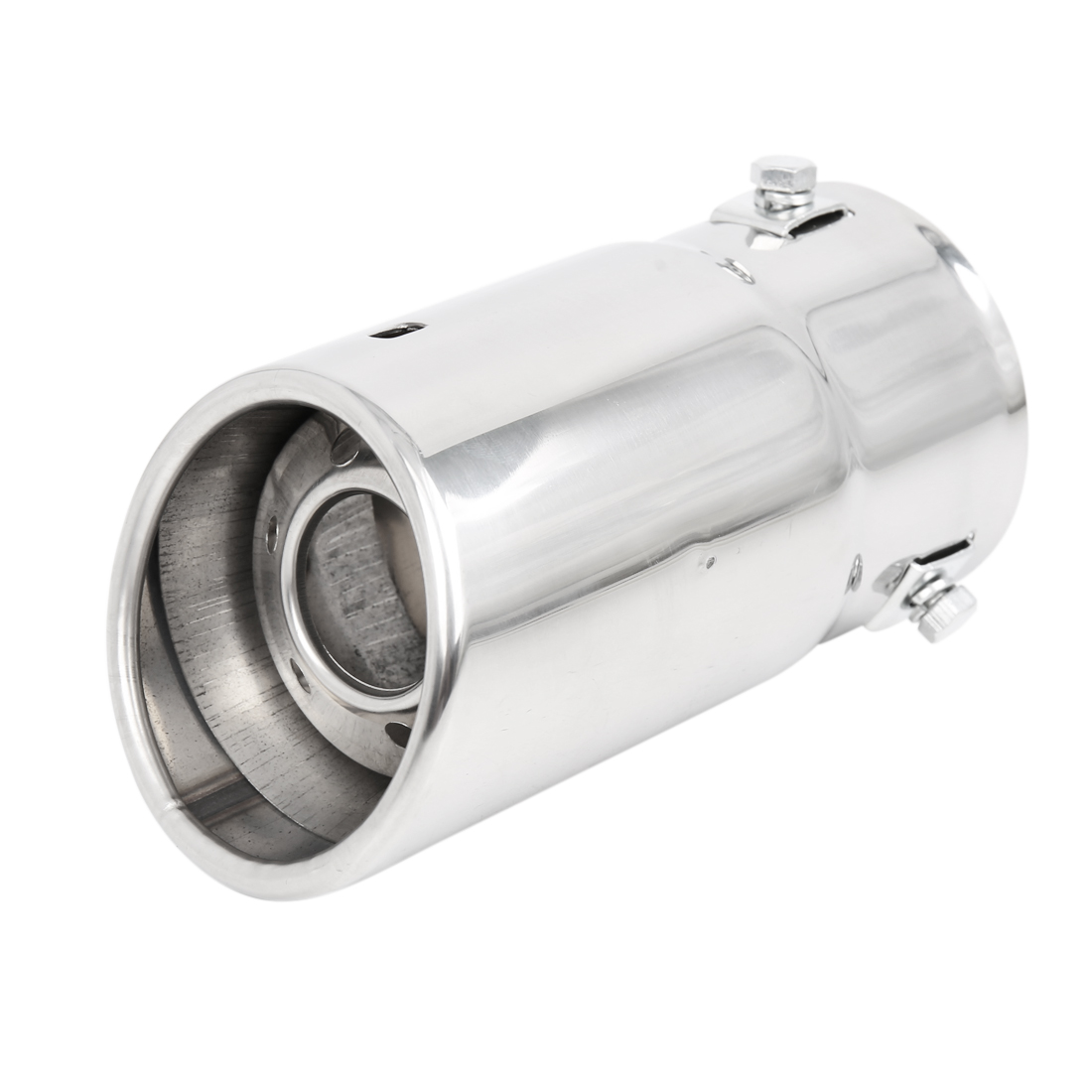 "Universal Fits Car Stainless Steel Chrome Round Exhaust Tail Muffler Tip Pipe Fit Diameter 1 1/2"" to 2 1/4"""
