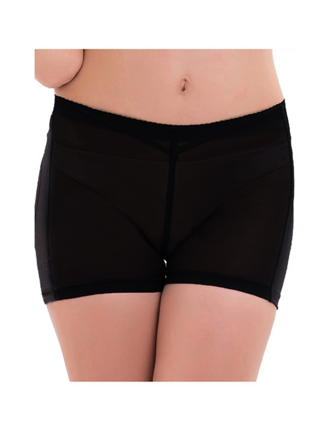 Women Butt Lifter Tummy Control Shapewear Enhancer Boyshort Underwear Black Large