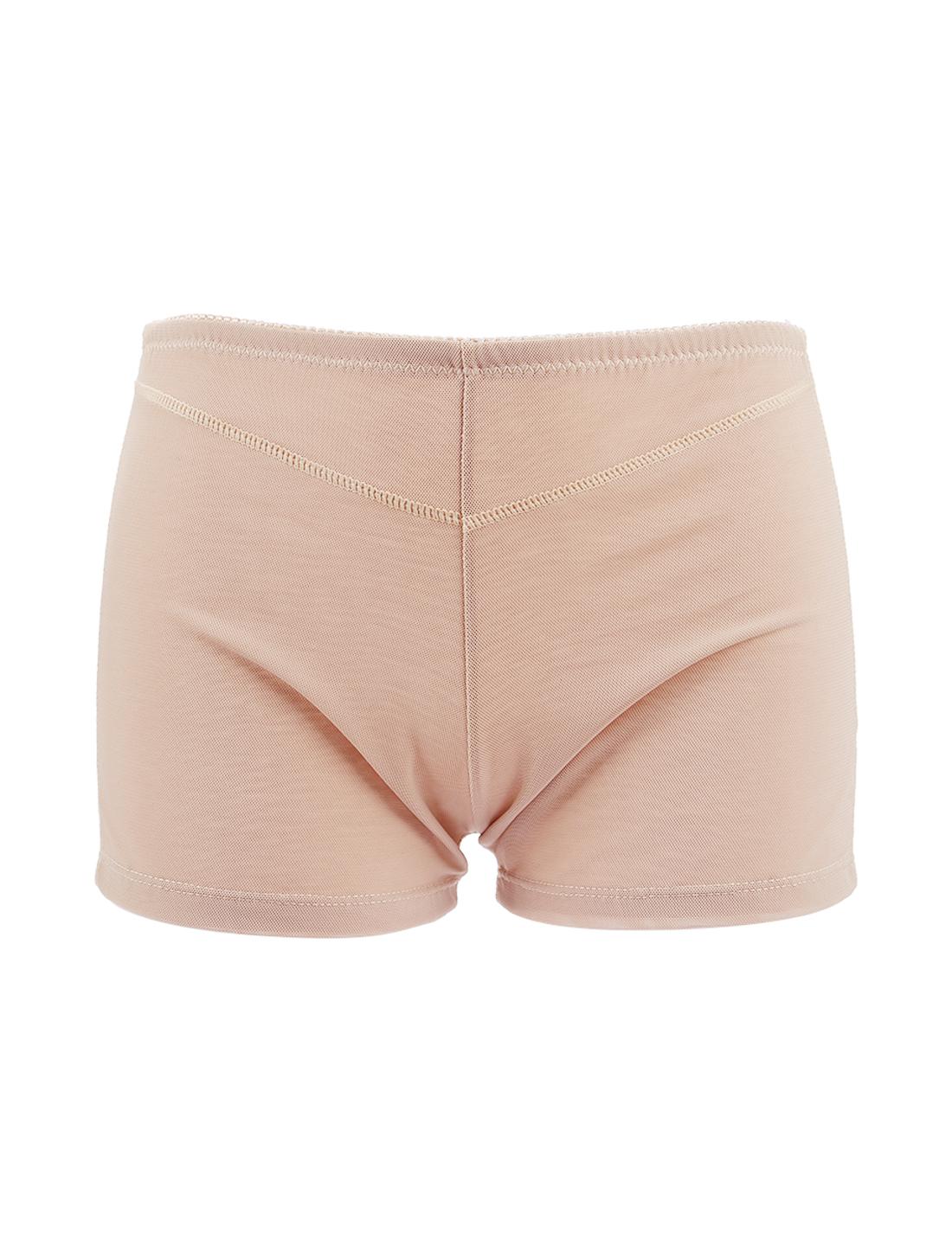 Women Butt Lifter Tummy Control Shapewear Enhancer Boyshort Underwear Beige XXX-Large