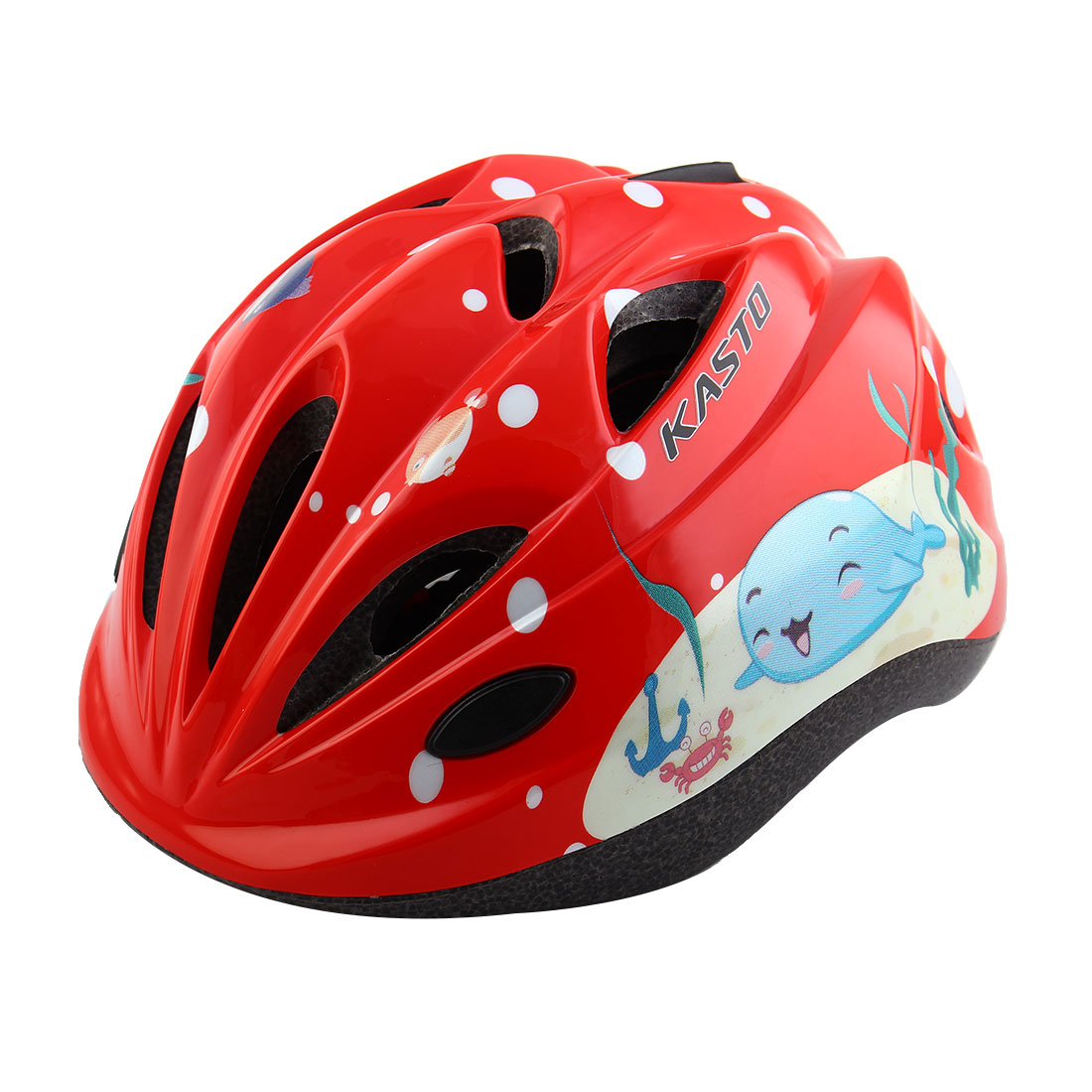 Boys Girls Adjustable Belt Removable Liner Road Cycling Mountain Bicycle Cap Safety Bike Helmet Red