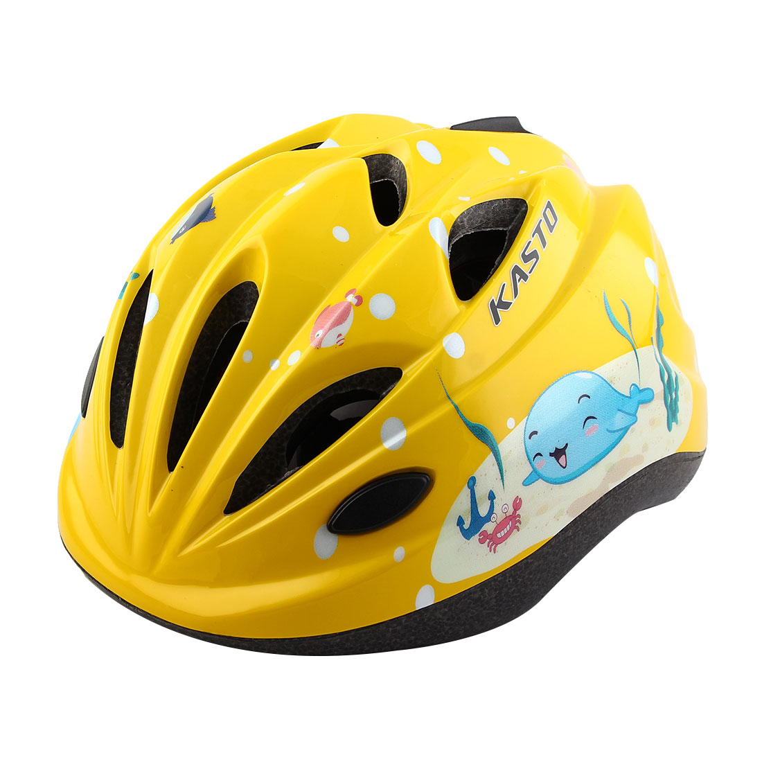 Boys Girls Adjustable Belt Removable Liner Road Cycling Mountain Bicycle Cap Safety Bike Helmet Yellow
