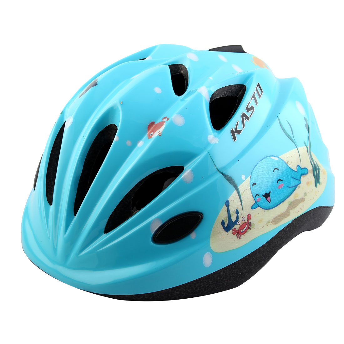 Boys Girls Adjustable Belt Removable Liner Road Cycling Mountain Bicycle Cap Safety Bike Helmet Sky Blue