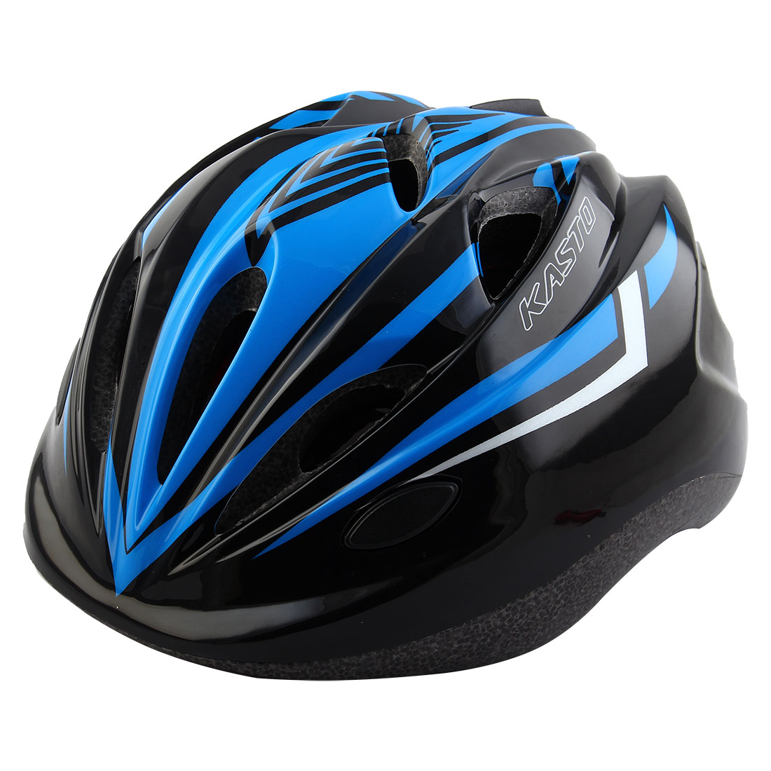 Boys Girls Adjustable Belt Removable Liner Road Cycling Mountain Bicycle Cap Safety Bike Helmet Black Blue