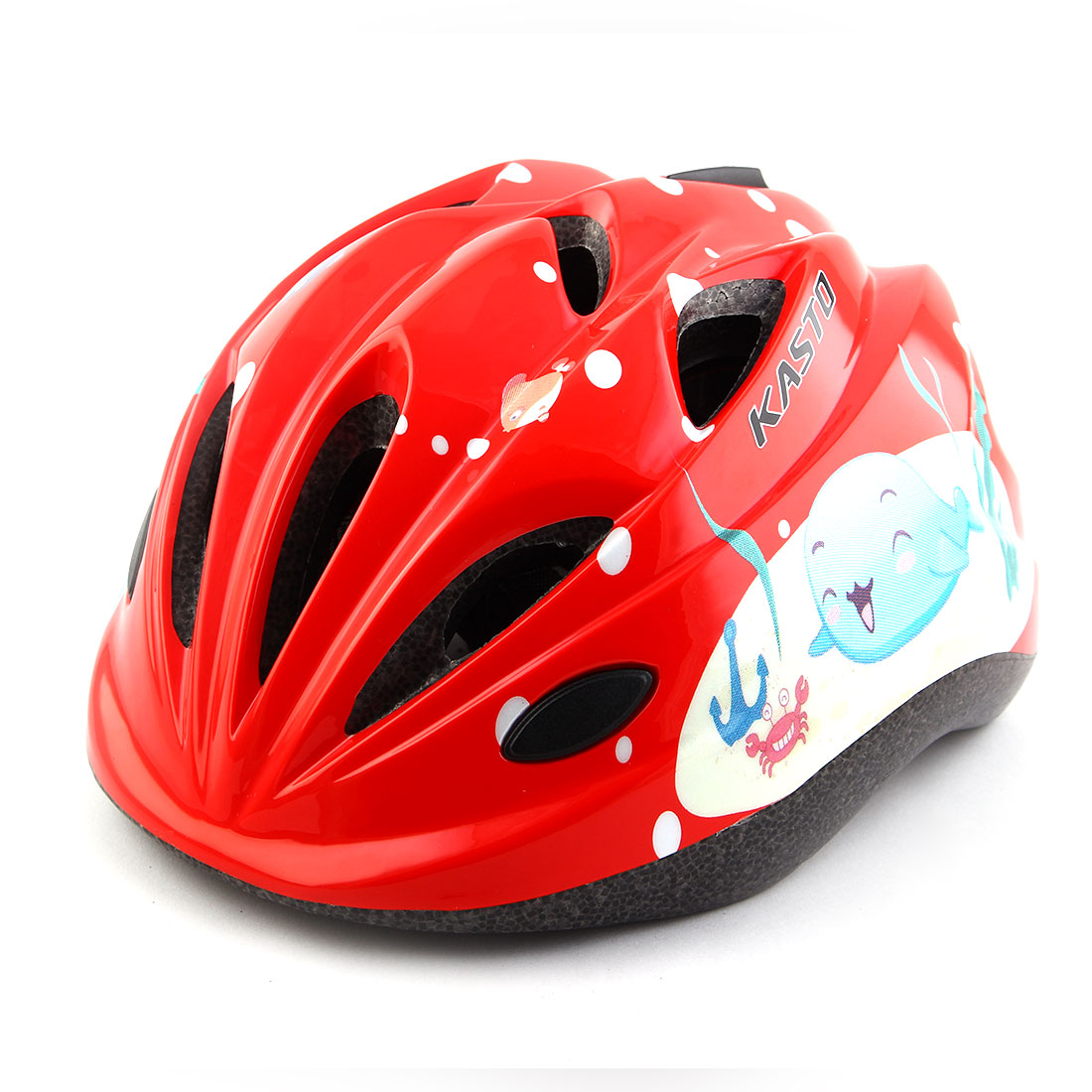 Boys Girls LED Light Adjustable Belt Removable Liner Road Cycling Mountain Bicycle Cap Safety Bike Helmet Red