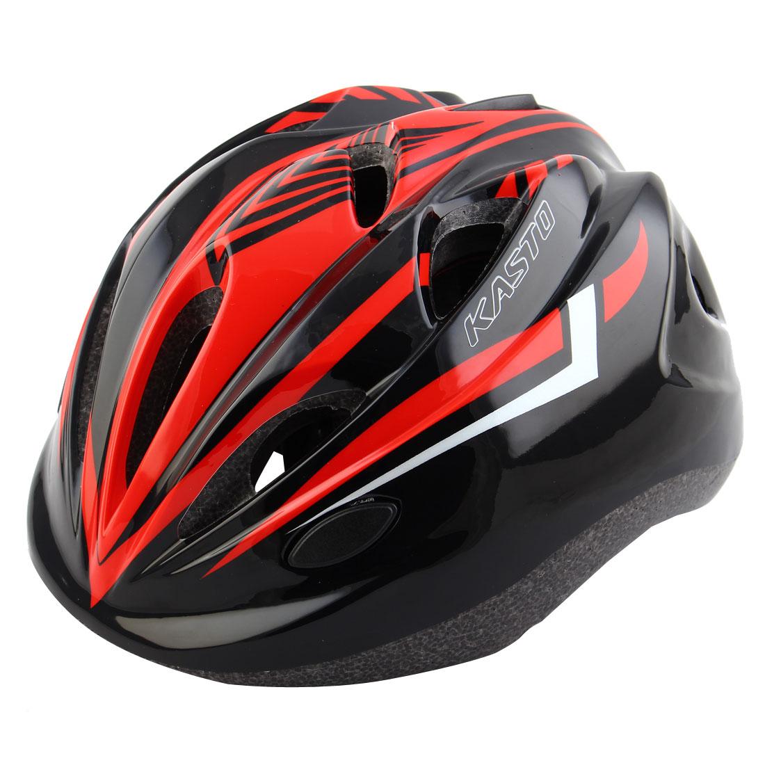 Boys Girls LED Light Adjustable Belt Removable Liner Road Cycling Mountain Bicycle Cap Safety Bike Helmet Red Black