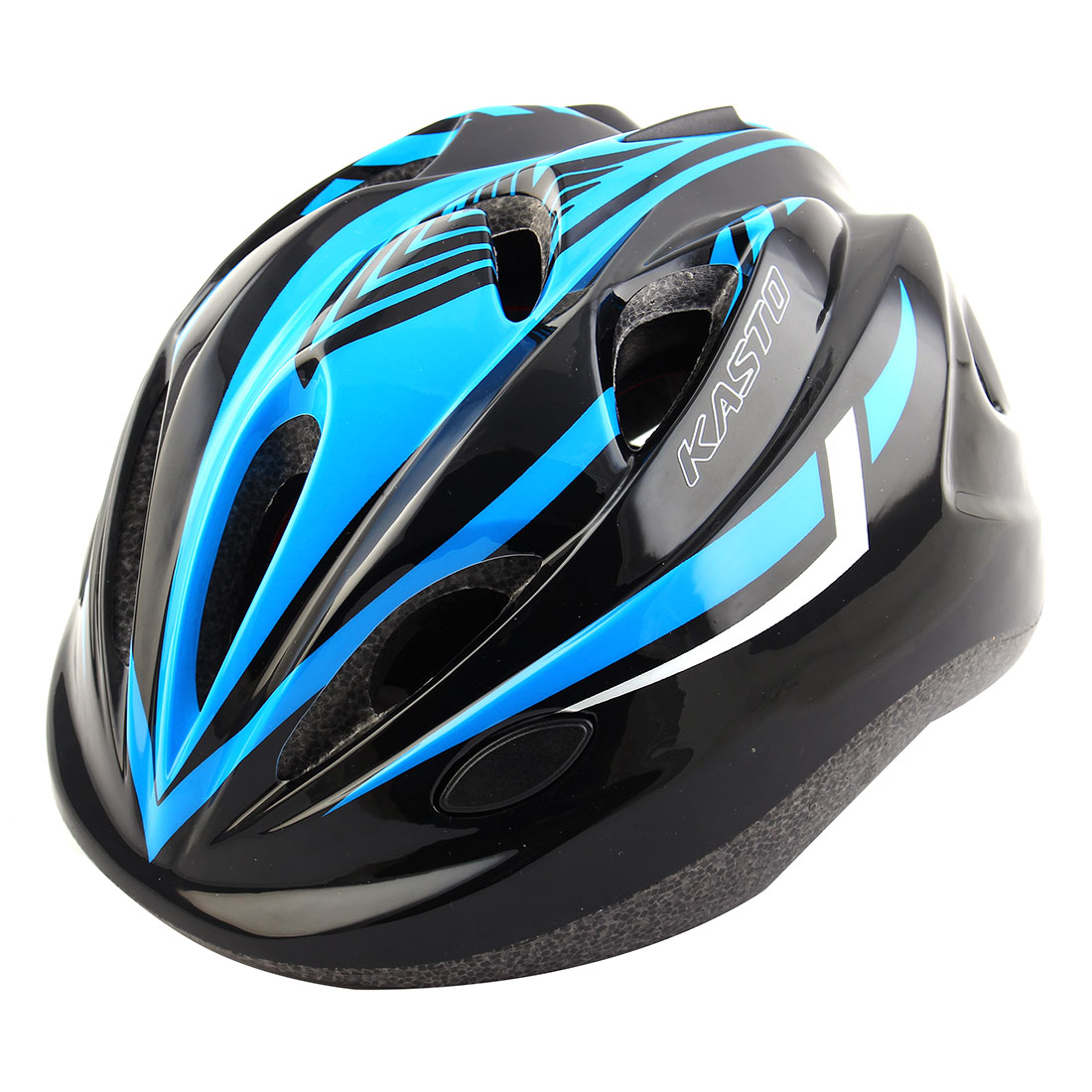 Boys Girls LED Light Adjustable Belt Removable Liner Road Cycling Mountain Bicycle Cap Safety Bike Helmet Black Blue