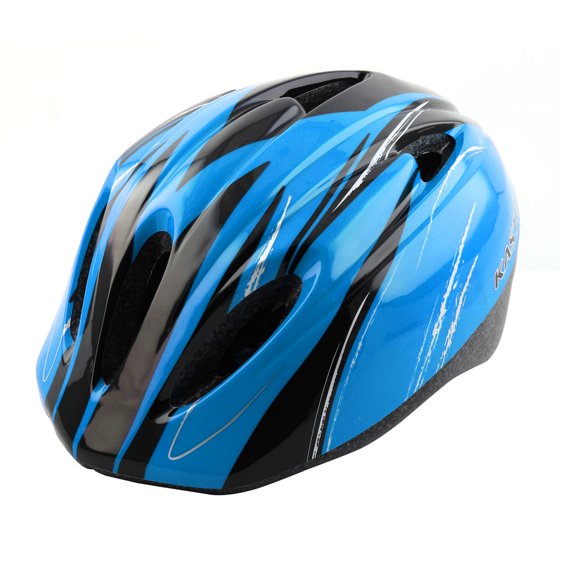 Boys Girls Adjustable Belt Removable Liner Skating Cycling Mountain Bicycle Cap Safety Bike Helmet Blue
