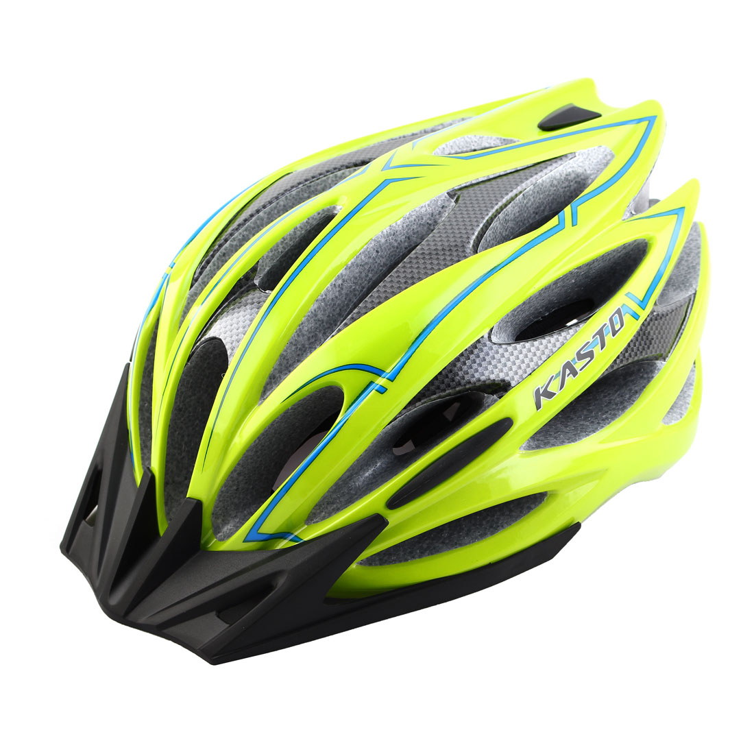 Adult Unisex 25 Holes Rotary Regulator Cycling Cap Head Safety Protector Hat Portable Biking Helmet Green