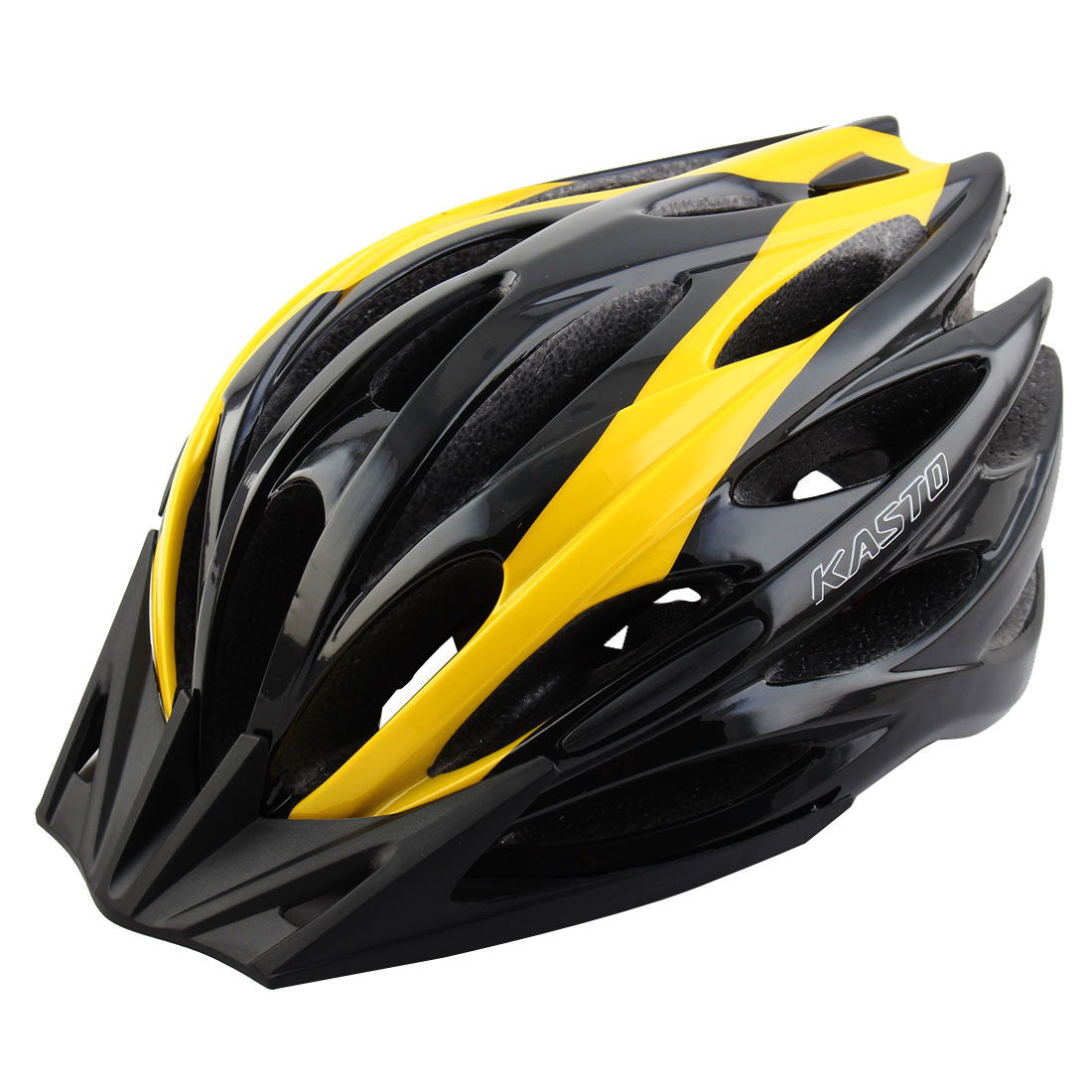 Adult Unisex 25 Holes Rotary Regulator Cycling Cap Head Safety Protector Hat Portable Biking Helmet Yellow