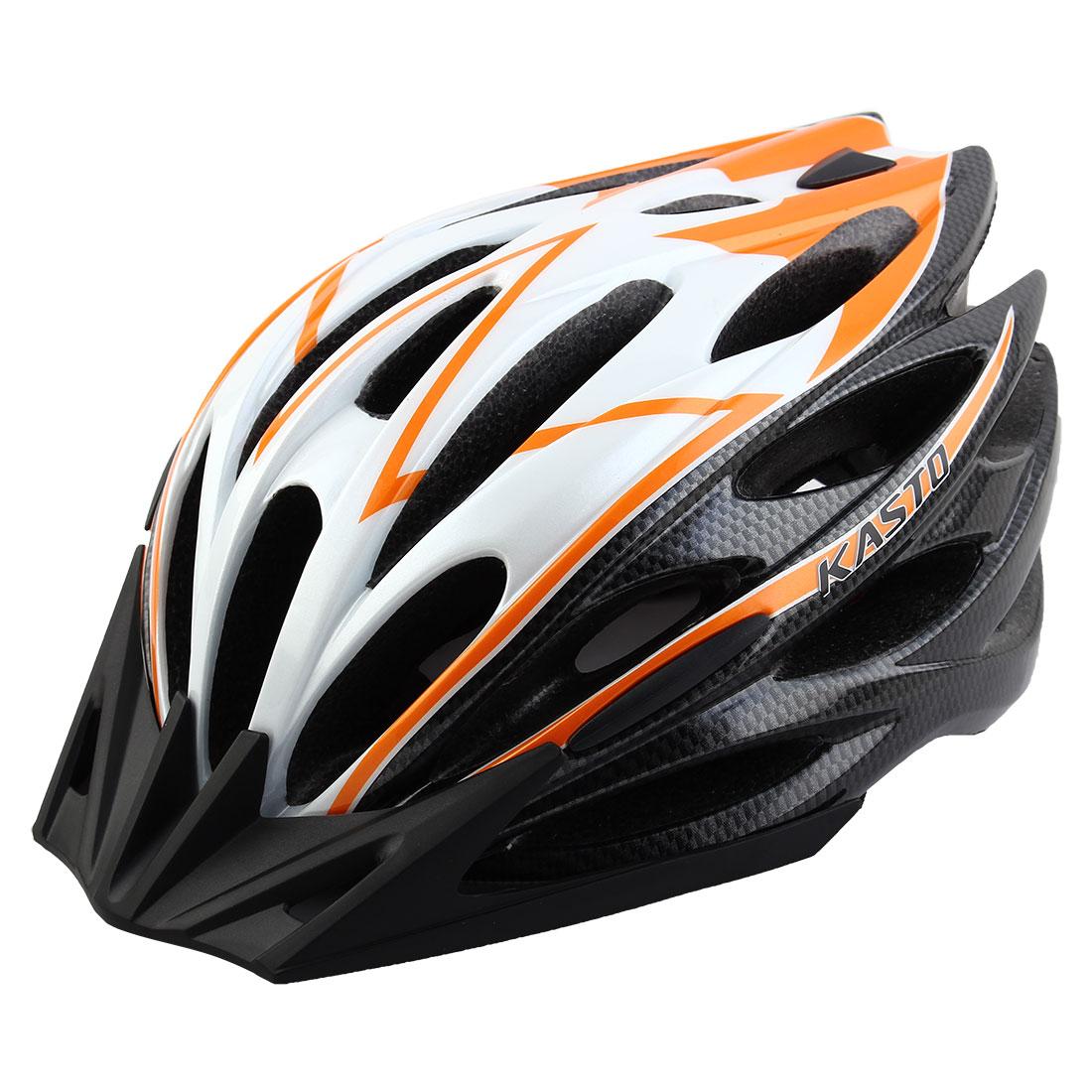 Adult Unisex 25 Holes Rotary Regulator Cycling Cap Head Safety Protector Hat Portable Biking Helmet Orange