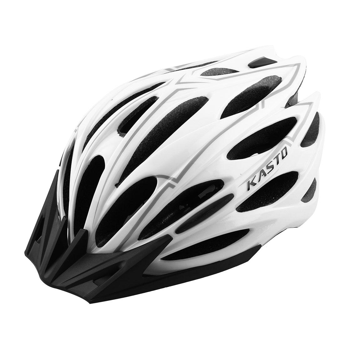 Adult Unisex 25 Holes Rotary Regulator Cycling Cap Head Safety Protector Hat Portable Biking Helmet White