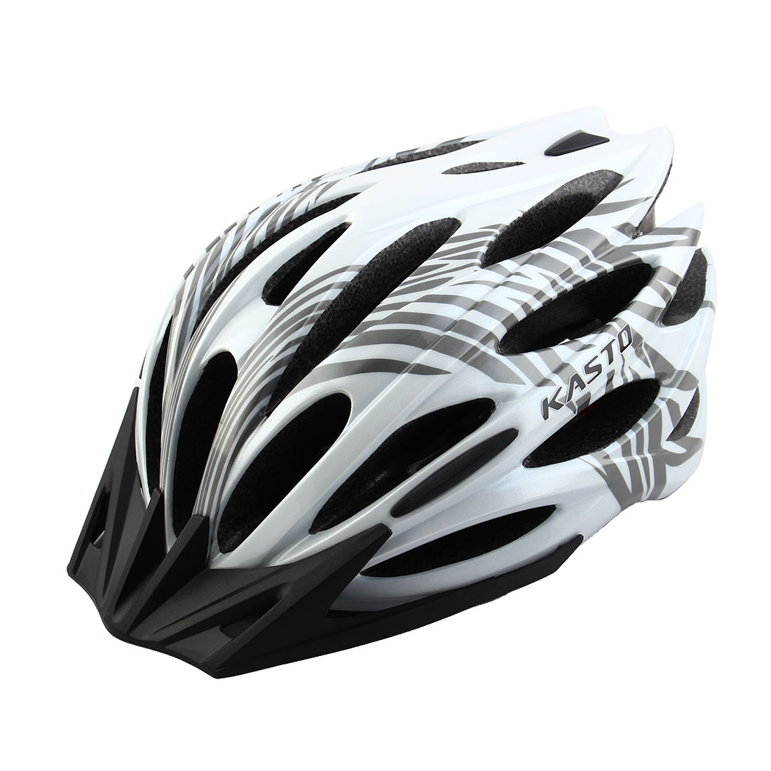 Adult Unisex 25 Holes Rotary Regulator Cycling Cap Head Protector Hat Portable Biking Helmet White Gray