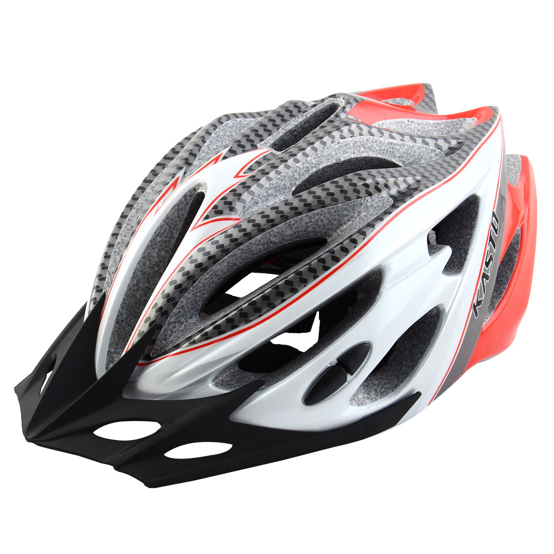 Adult Unisex 21 Holes Portable Cycling Cap Head Safety Protector Riding Hat Adjustable Biking Helmet Red White