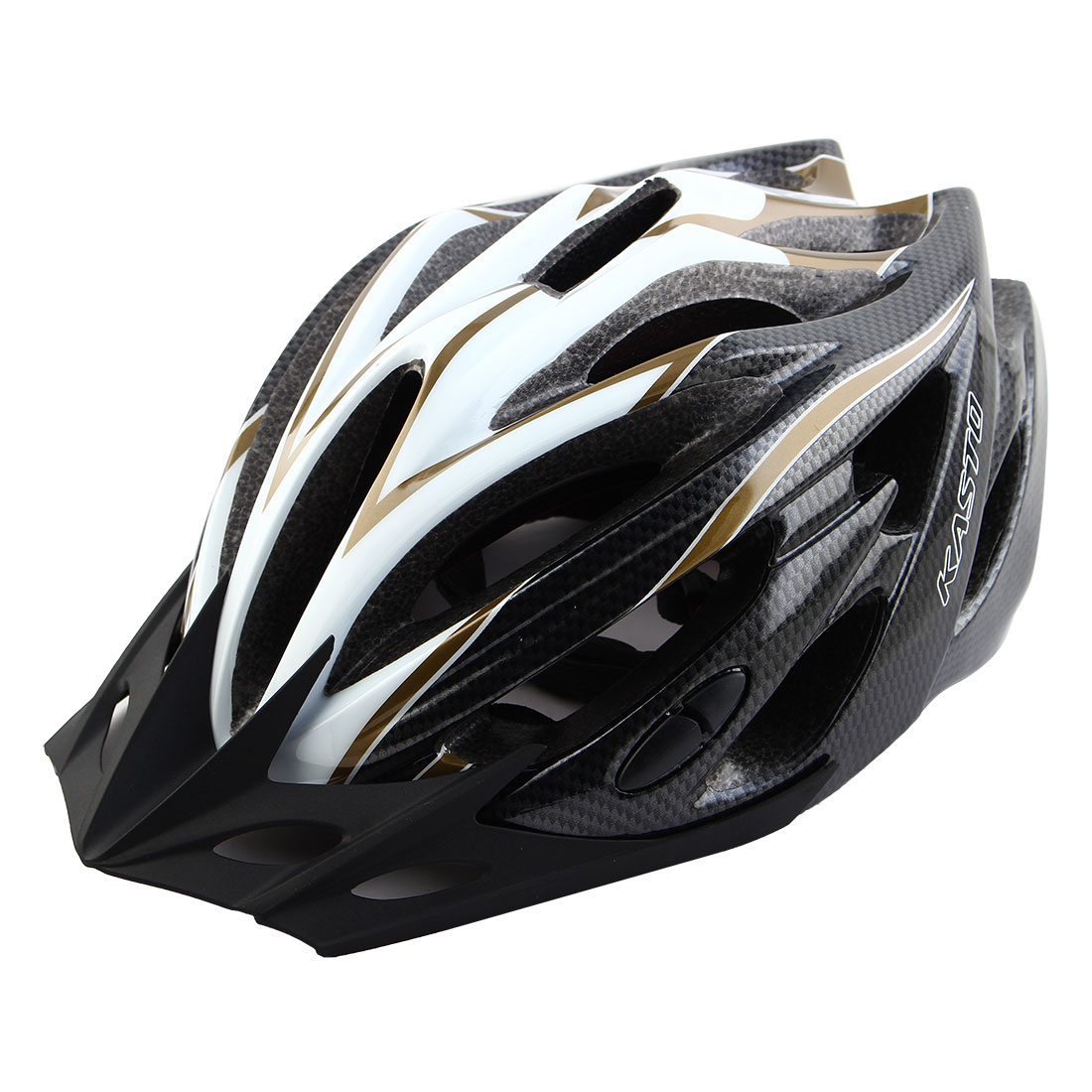 Adult Unisex 21 Holes Portable Cycling Cap Head Safety Protector Riding Hat Adjustable Biking Helmet Black White