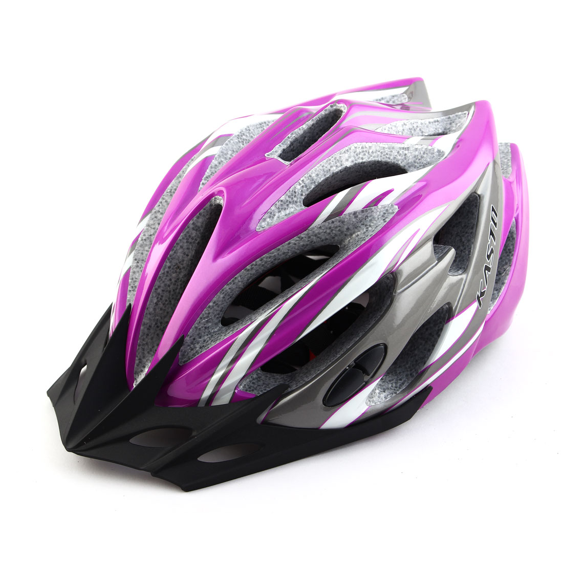 Adult Unisex 21 Holes Portable Cycling Cap Head Safety Protector Riding Hat Adjustable Biking Helmet Purple