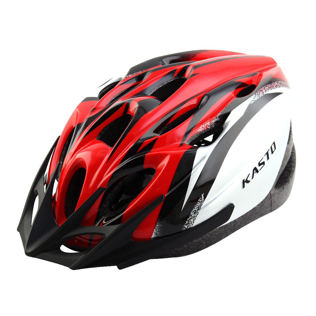 Adult 18 Holes Removable Visor Outdoor Sports Cap Portable Hat Adjustable Cycling Biking Helmet Red