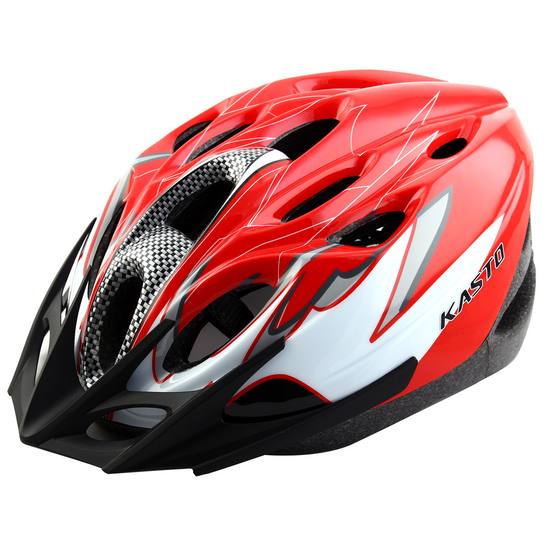 Adult 18 Holes Removable Visor Outdoor Sports Cap Head Protector Hat Adjustable Cycling Biking Helmet Red