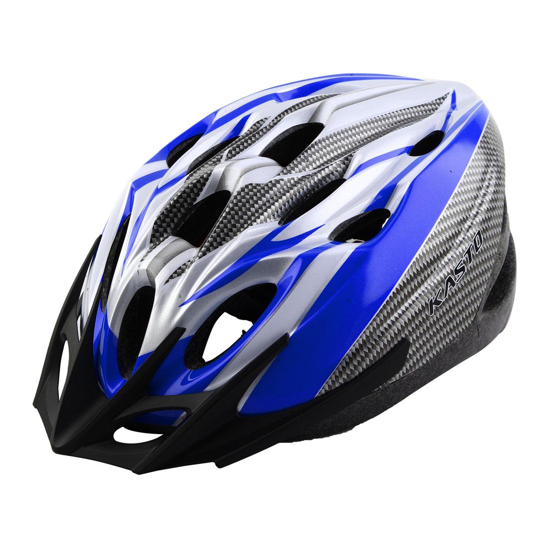 18 Holes Removable Visor Outdoor Sports Cap Portable Hat Adjustable Cycling Biking Helmet Sapphire Blue