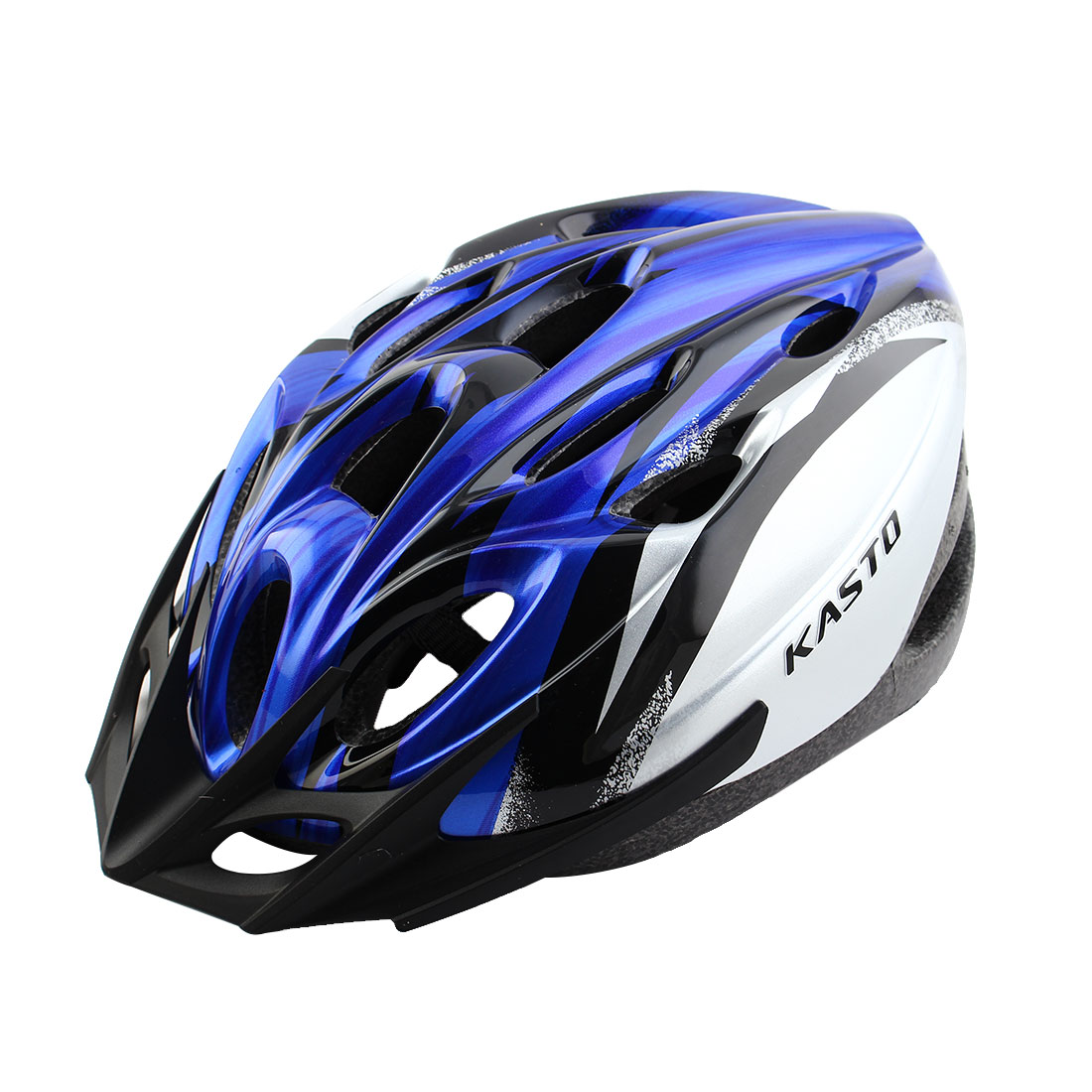 Unisex LED Light Removable Visor Outdoor Sports Cap Portable Hat Adjustable Safety Bicycle Bike Helmet Sapphire Blue