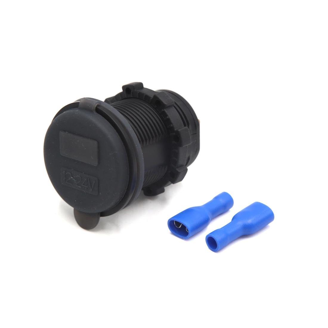 12/24V Multifunctional USB Charger Adapter + Blue LED Digital Voltmeter for Car