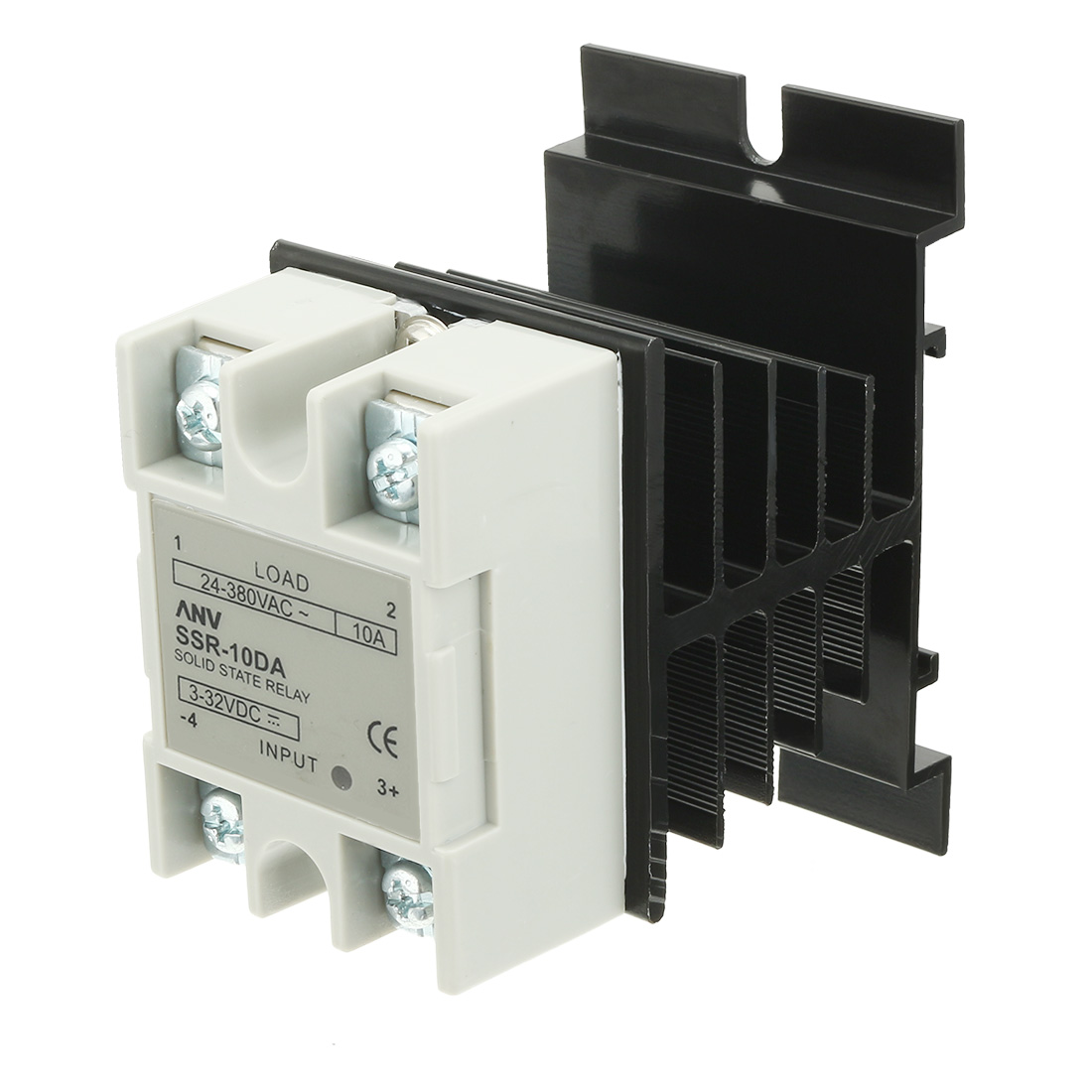 10DA DC3.2-32V to AC 24V-380V Solid State Relay + Heat Sink + Thermal Compound