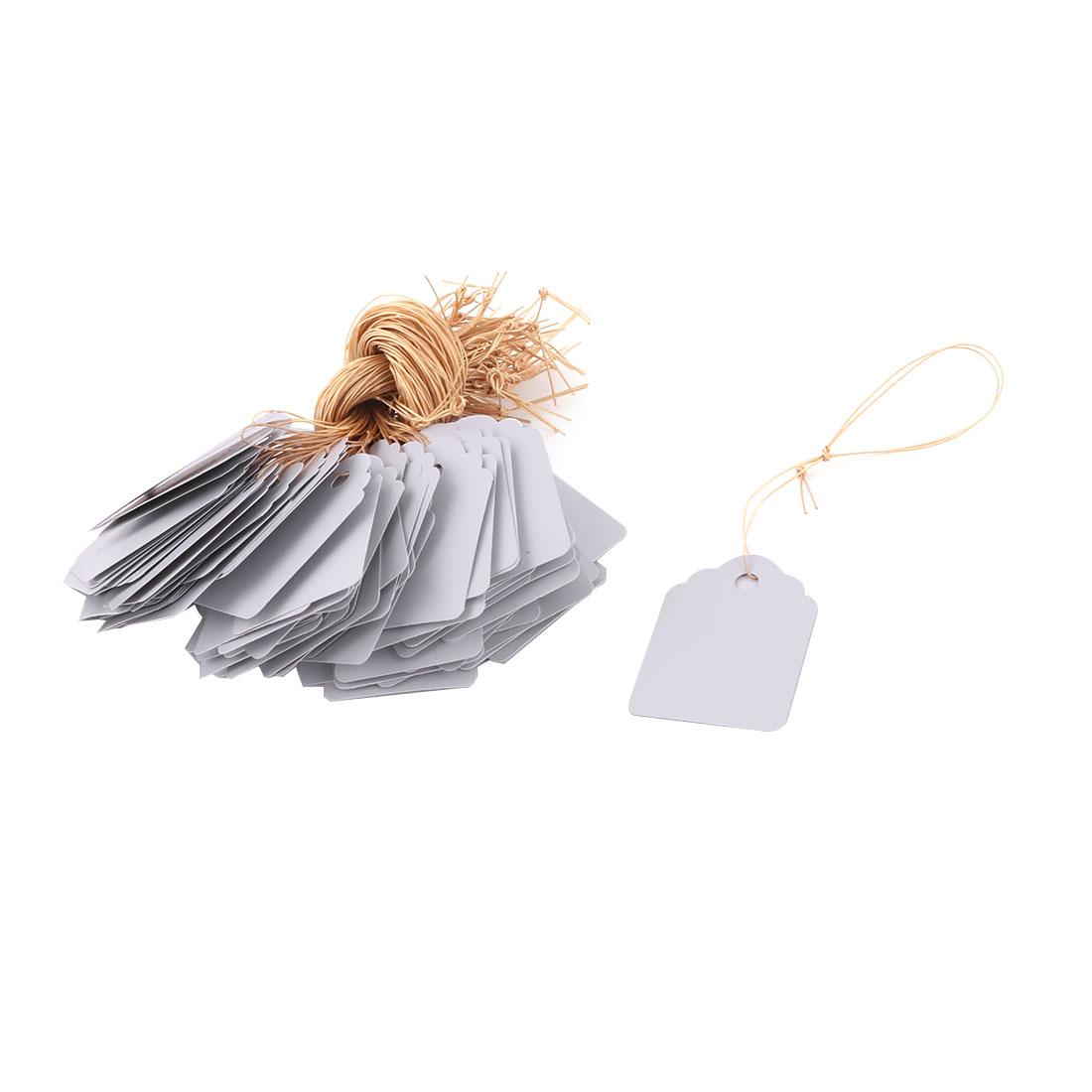 Garden Yard Plastic Plant Flower Seed Hanging Name Tag Label Marker White 100pcs