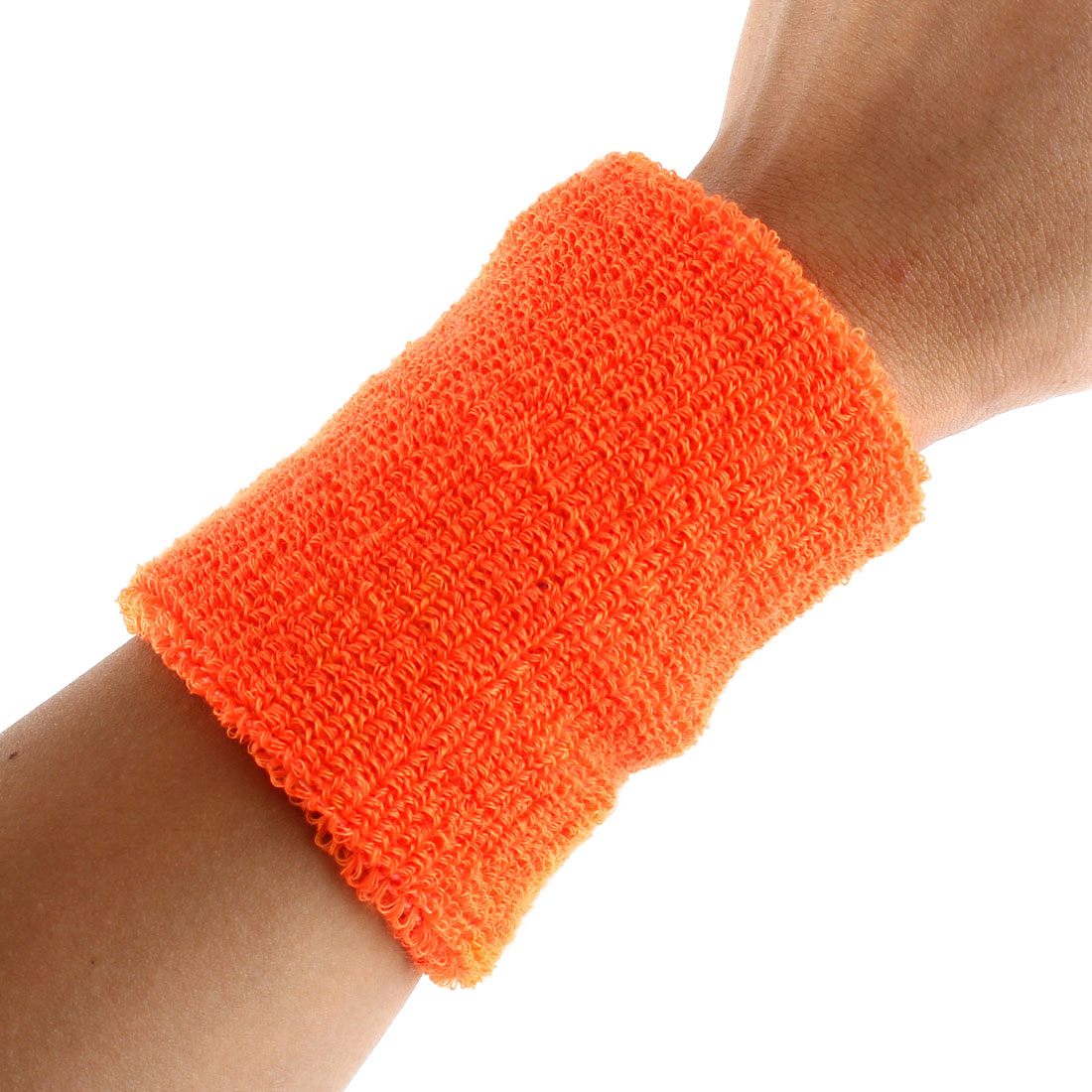 Exercises Gym Running Elastic Breathable Hand Protector Bandage Sweatband Wristband Sport Wrist Orange 2pcs